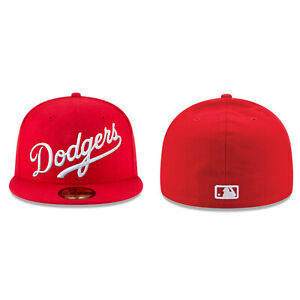 Los Angeles Dodgers MLB Script New Era 59FIFTY/9FIFTY Fitted/Snapback Cap Hat