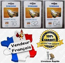 Carte Mémoire 16 32 64 128 GB GO SAMSUNG EVO Micro SDHC SDXC pour téléphone Wiko