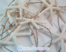 WHITE STARFISH GARLAND on Sisal Rope 10 feet Long with a 12 White Starfish