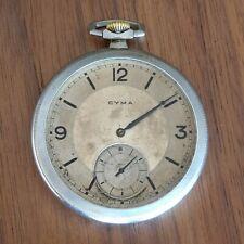CYMA Pocket Watch 15j Working Big 47mm Swiss Made Vintage