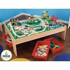 Kidkraft Wooden Waterfall Mountain Train Set and Table 17850