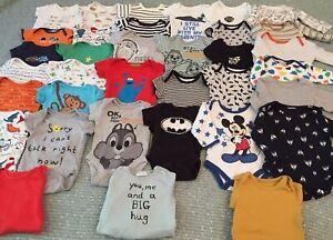Baby Boys 0-3 Month Vest Bundle