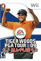 Tiger Woods PGA Tour 09: All-Play Nintendo Wii Kids Sports Game Golf Golfing U