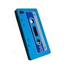 Silikonhülle Schutzhülle Etui Ipod Touch 4 4G Kassette K7 Weinlese Blau