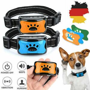 Anti Bell Hundehalsband Erziehungshalsband Hundetrainer mit Ton und Vibration DE