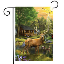 "Great Outdoors Summer Garden Flag Elk Wildlife Outdoors 12.5""x18"" Briarwood Lane"