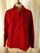 Very Nice Vtg 1950s Ll Bean Bold Red Heavy Wool Shirt 40 Chest Hunting Jacket