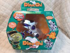 DINO-CHI T-Rex 2001 Tiger Electronics Interactive Dinosaur Silver & Blue NEW