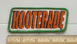Hooterade Hooters Bar Cocktail Drink Souvenir Orange Green Embroidered Patch
