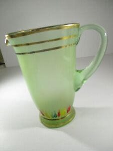 Glass Drinking Jug with Handle 19.5 cm tall x 13 cm Diameter Holds 1200mls