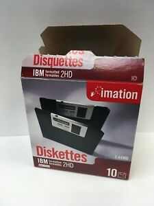 New Imation 2HD Diskettes, IBM Formatted, Open Box w/ Extra Disc, DS/HD, 1.44MB