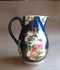 Worcester Dr Wall Blue Fish Scale Creamer with Exotic Birds and Insects