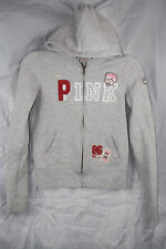 Victoria's Secret PINK sz XS Gray Patchwork Sweater Hoodie