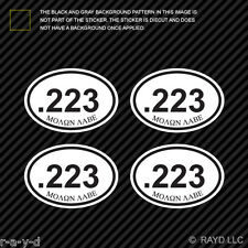 "(4x) Molon Labe .223 Ammo Can Sticker Set Decal measures 2.5"" x 1.72"" bullet 223"
