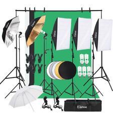 Photography Video Photo Studio Lighting Kits Adjustable 5500K Umbrella Softbox
