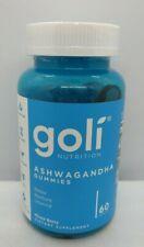 GOLI Ashwagandha Gummies. Mixed Berry flavor. 60ct, Exp 07/2022, #7409