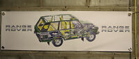 range rover   CLASSIC pvc large WORK SHOP BANNER garage car show banner