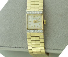 Vintage Diamond Watch by  Gerard Perregaux Ladies 14K Yellow Gold