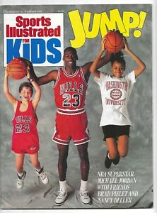 1989 Sports Illustrated Kids Michael Jordan * FIRST ISSUE * No Label  NEVER READ