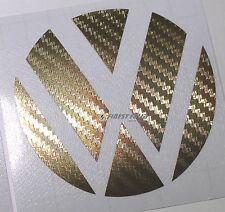 Emblem Ecken Carbon Gold hinten VW Golf  VI GTI GTD R Turbo Logo Folie Aufkleber