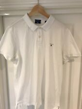 Gant Para Hombre Camisa Polo Tamaño XL Blanco