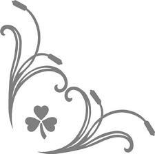 Shamrock Ireland  truck cab window stickers (pair) scroll with clover logos