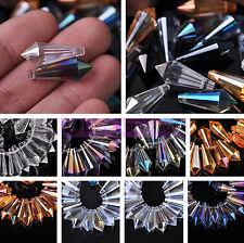 5/20pcs Crystal Glass Chandelier Lamp Lighting Prisms Drop Hanging Beads Pendant