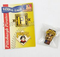Pittsburgh Pirates National League Baseball Lapel Hat Pin Pinback & Info Card
