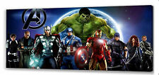 "Marvel Avengers Assemble Canvas 22""x10""  Framed Picture 01"