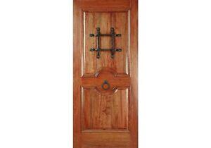 """ETODoors.com: EXTERIOR 42"""" x 80"""" SOLID MAHOGANY RM2 RUSTIC KNOTTY DOOR (1-3/4"""")"""