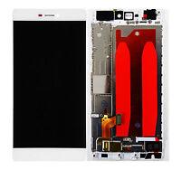 ✅ LCD Display Touchscreen Glas Digitizer + Rahmen fur Huawei Ascend P8 - WEIß