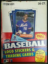 1986 Fleer Baseball Box Unopened/New In Box, Pack Fresh PSA 10s???