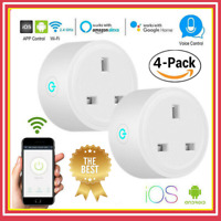 Wi-Fi Smart UK Socket/Plug Compatible For Google Amazon Alexa APP Voice Control#