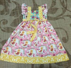 Jelly The Pug Girl's Sweet Peep Belinda Summer Floral Dress Girls Size 10