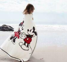 Barefoot Dreams CozyChic Disney Mickey Minnie Soft Baby Blanket Throw 30x40 NWT