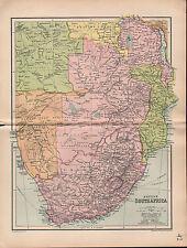 1903 MAP ~ BRITISH SOUTH AFRICA ~ ANGOLA TRANSVAAL