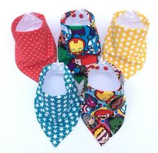 Baby Boys Bandana Dribble Bib (Bibdana) Bundle. Marvel Kawaii Prints. NEW!!!