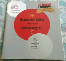 MANCHESTER UNITED v  GALATASARAY AS CHAMPIONS LEAGUE  PROGRAMME, 19th-09-2012
