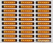30 x 24V 24 VOLT SMD 6 LED YELLOW SIDE MARKER LIGHT POSITION TRUCK TRAILER LORRY