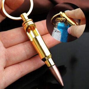 Bullet Shell Shape Bottle Opener Beer Gold Keychain Key Ring Bar stocking filler