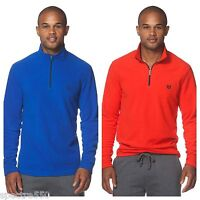 CHAPS Sport Men's 1/4 Zip Fleece Pullover NEW Blue or Red Size S or M  NWT