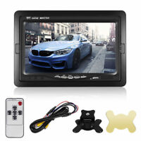 """7"""" TFT LCD Color Monitor for Car RearView Headrest DVD VCR Monitor 2 Video Input"""