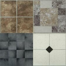 4 x Vinyl Self Adhesive Floor Tiles Peel Stick Flooring Kitchen Bathroom home