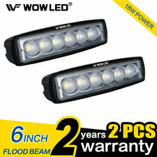WOW - 2 X 6 Inch 18w LED Work Light Bar Offroad Flood Lamp Truck Boat SUV 4wd