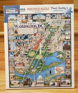 White Mountain Puzzles Washington DC - 1000 Piece Jigsaw Puzzle