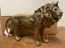 More details for reflections bronze colour lion statue by leonardo - lion ornament figurine
