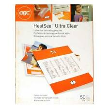 New 10mil GBC HeatSeal Ultra Clear Letter Size Pouches - 50pk - Free Shipping