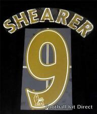 Newcastle Shearer 9 Nom/Numéro Set Football Shirt Lextra 07-13 Sporting ID Gold