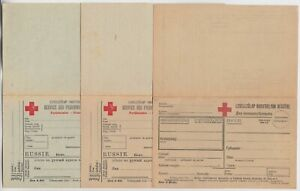 RUSSIA 3x RED CROSS/PRISONER of WAR reply cards different printings/papers?