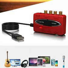 NEW U-CONTROL UCA222 USB-Audio Interface Adapter Red with Box MT
